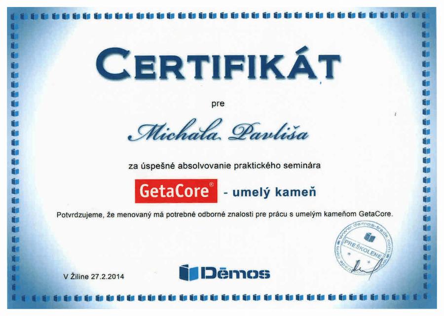 certifikat getacore
